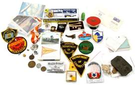PATCH PIN MEDAL FDC PHOTO & MORE ANTIQUE LOT
