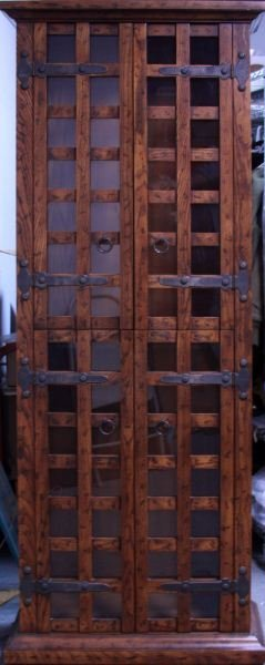 78 INCH LIGHTED CURIO CABINET
