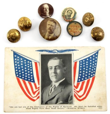 1880S-1920S PRESIDENTIAL CAMPAIGN BUTTONS