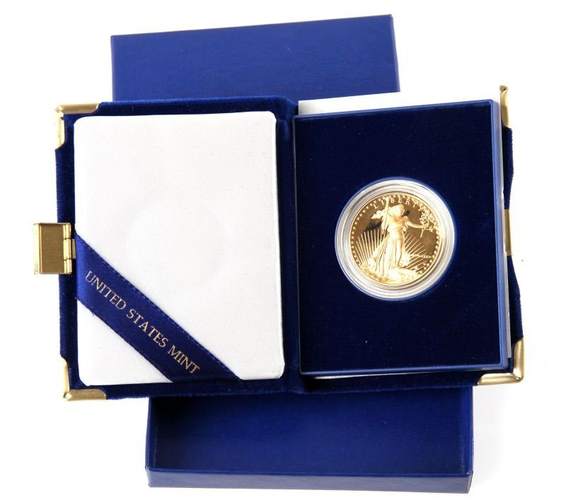 1986 OUNCE AMERICAN EAGLE PROOF GOLD COIN IN BOX