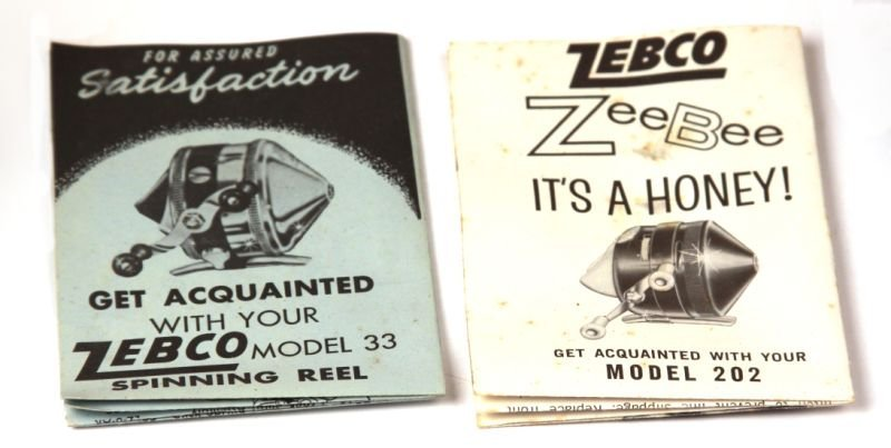 TWO VINTAGE ZEBCO SPINNING REELS 33 AND 202 - 2