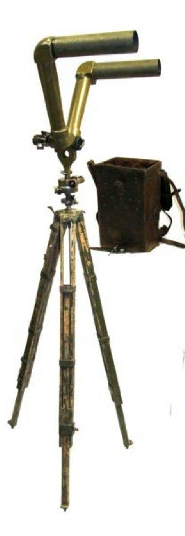 WWII ARGENTINE ZEISS TELEMETER W CASE & TRIPOD