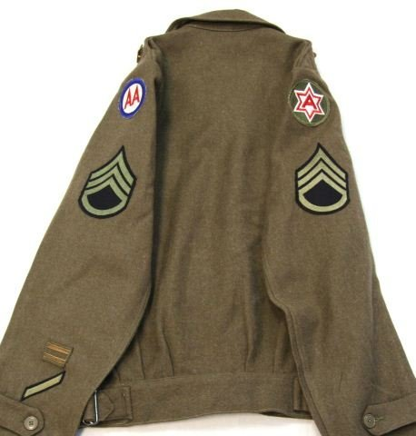 WWII US ARMY AIR CORP IKE JACKET WITH INSIGNIA - 8