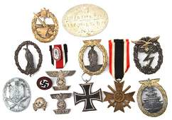 LOT WWII GERMAN ITEMS REPRO REAL  UNDETERMINED