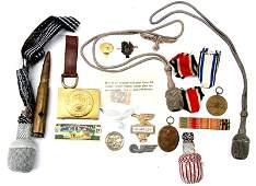 MIXED LOT WWII GERMAN MILITARIA INSIGNIA & MORE