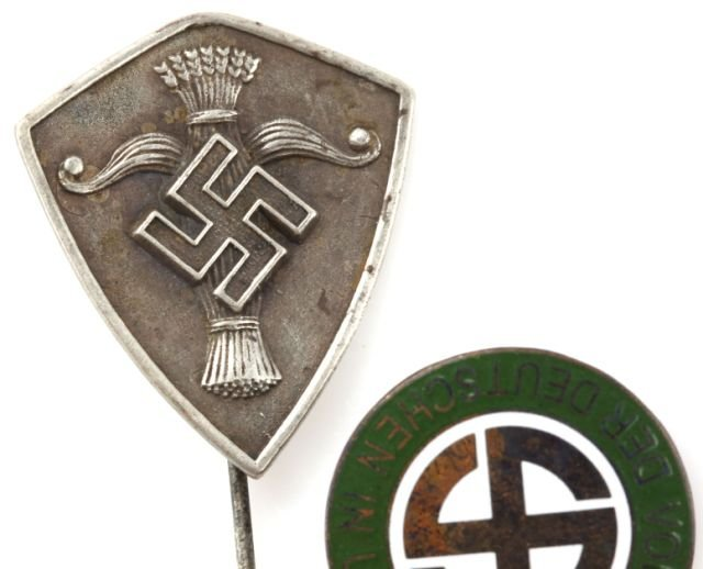 WWII SWEDISH AND HUNGARIAN NAZI PARTY PINS - 3
