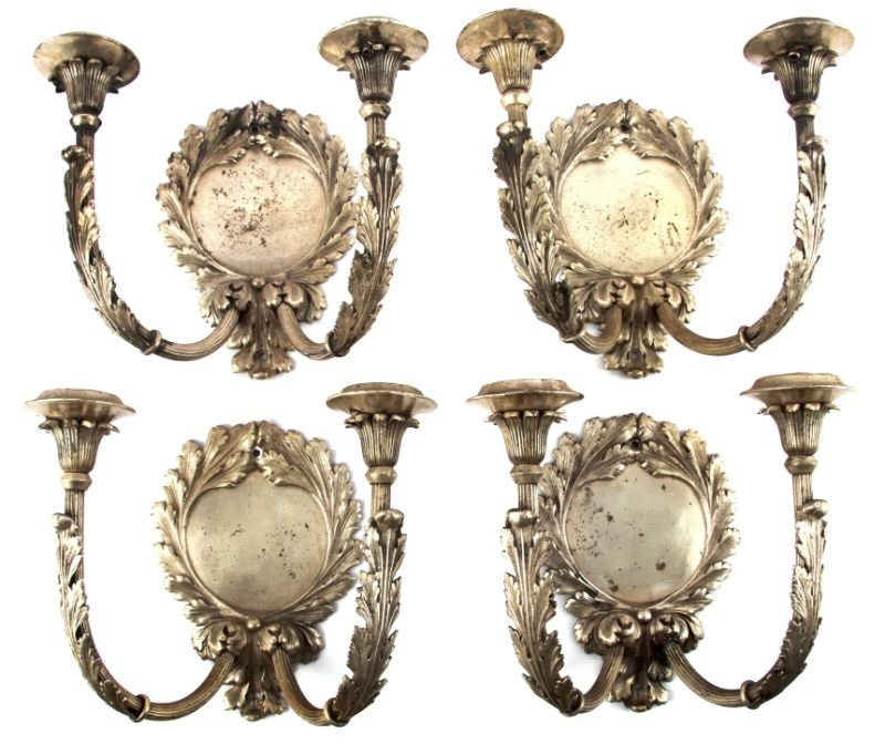 SET OF FOUR MITCHELL VANCE CANDLE WALL SCONCES