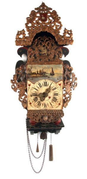 FINE 19TH CENTURY DUTCH WALL CLOCK