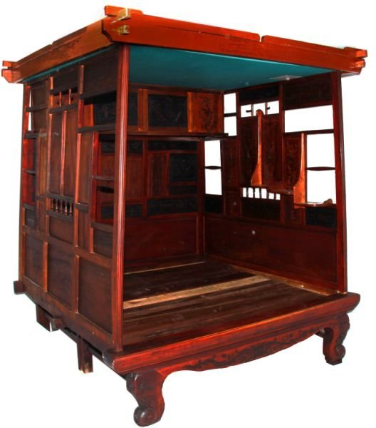 QING DYNASTY CHINESE WEDDING BED C 1830