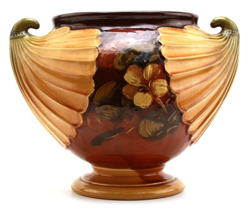 DATED ENGLISH BRETBY PAINTED POTTERY JARDINIERE