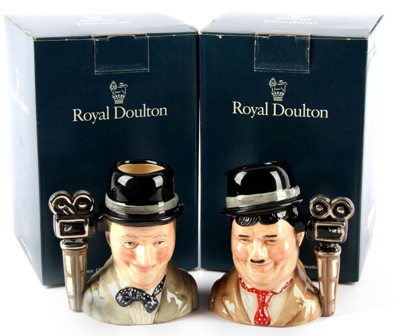 ROYAL DOULTON OLIVER HARDY & STAN LAUREL SMALL JUG