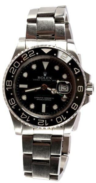 ROLEX GMT MASTER II STAINLESS STEEL