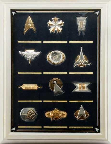 Star Trek Insignia Collection Set 12 Silver Pieces