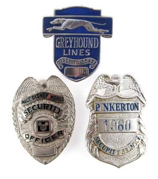Walt Disney World Pinkerton Security Officer Badge