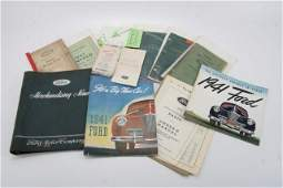 LOT OF FORD LINCOLN BOOKS MANUALS BROCHURES