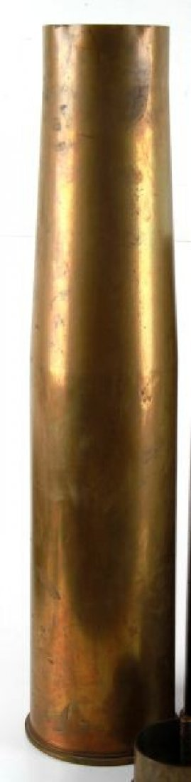 GROUPING OF 12 BRASS ARTILLERY SHELLS - 3