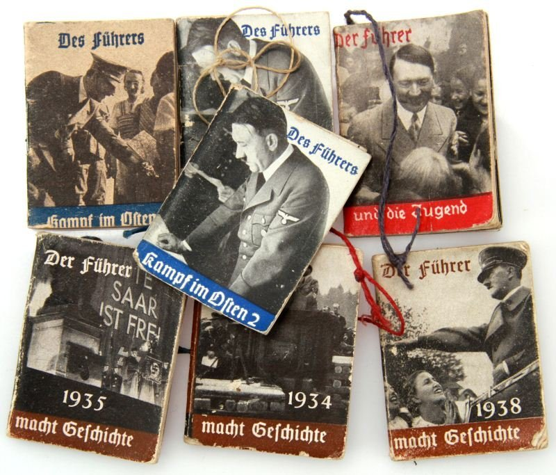 EVEN WWII NAZI PROPAGANDA MINIATURE BOOKLETS