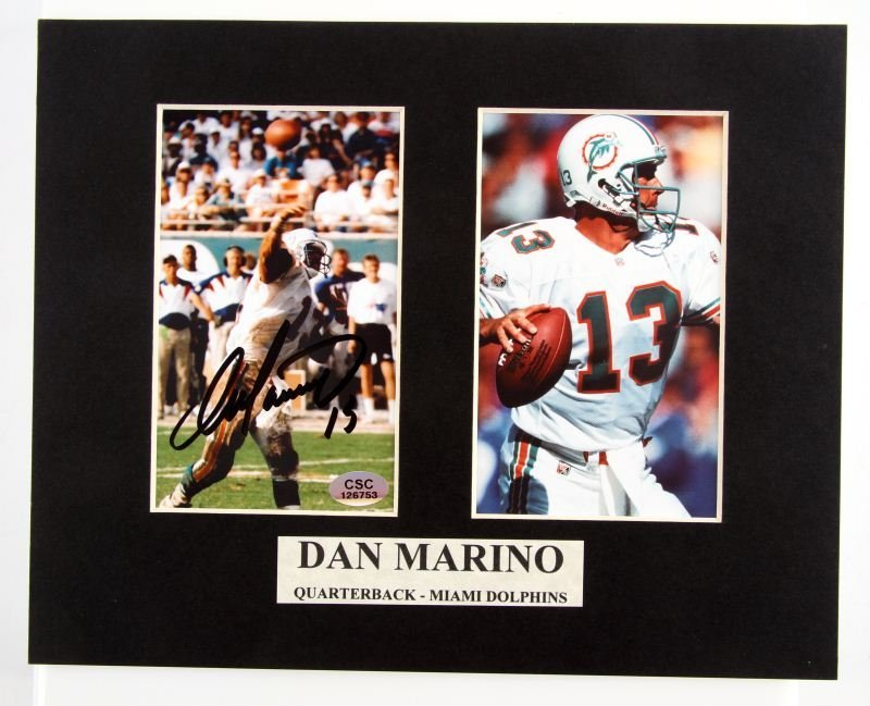 DAN MARINO SIGNED PHOTOGRAPH WITH COA