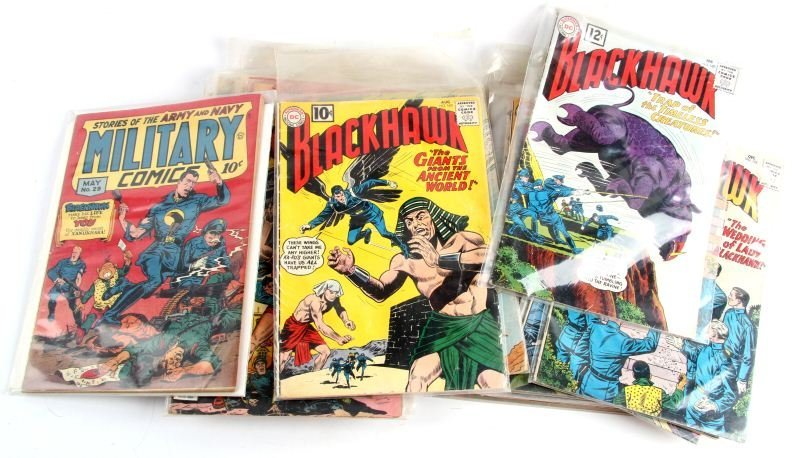 GOLDEN AGE BLACKHAWK, MILITARY, MODERN COMICS RARE