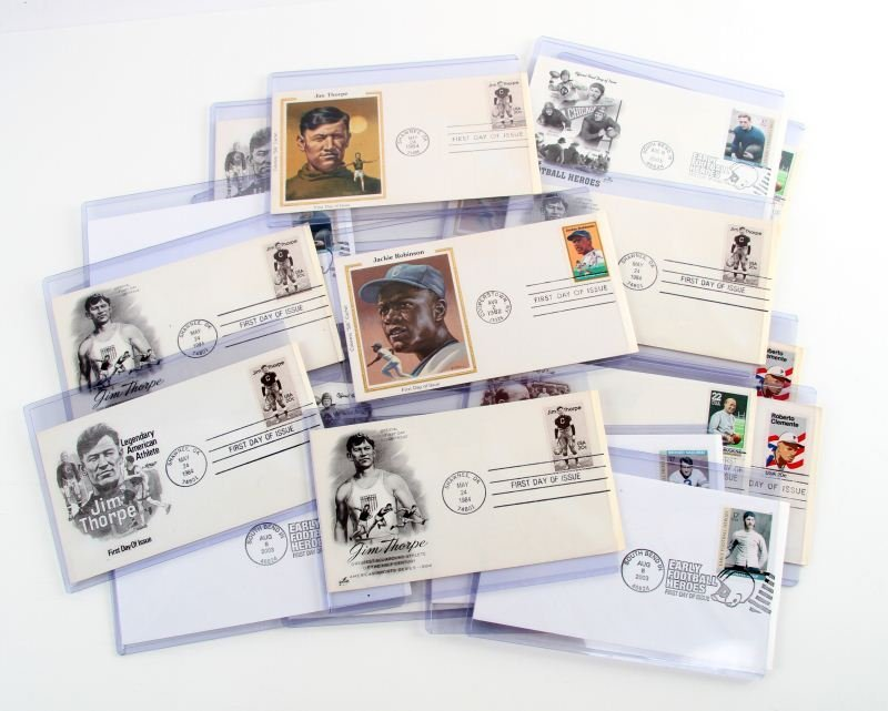 FIRST DAY ISSUE SPORTS MEMORABILIA STAMPS