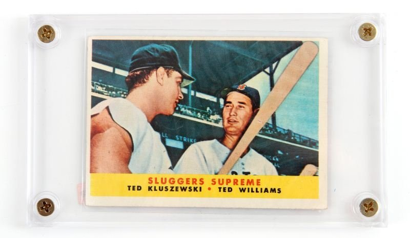 58 TOPPS #321 SLUGGERS SUPREME WILLIAMS KLUSZEWSKI