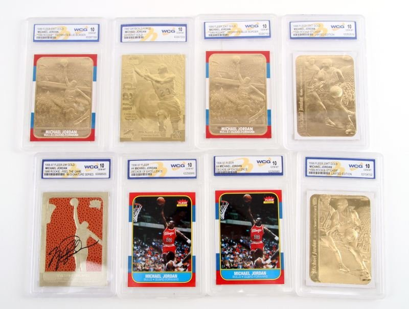 GRADED MINT MICHAEL JORDAN BASKETBALL CARDS