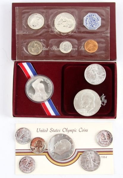 US PROOF COMMEM SILVER COIN MIXED LOT