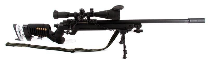 TWO AIRSOFT BB GUNS SNIPER, M16 - 2