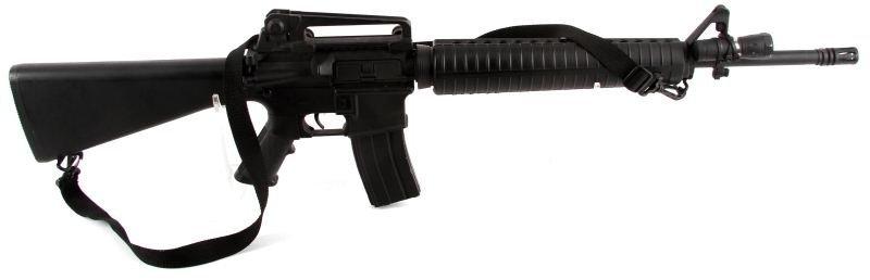TWO AIRSOFT BB GUNS SNIPER, M16 - 3
