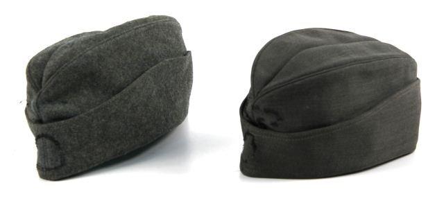 WWII GERMAN M43 OVERSEAS CAP LOT OF 2