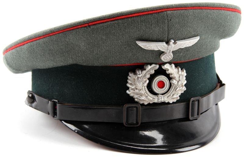 WWII GERMAN NAMED UNTEROFFIZIER ARTILLERY CAP
