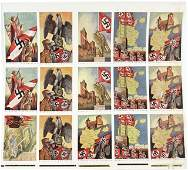GERMAN WWII THIRD REICH UNCUT POSTCARD SHEET
