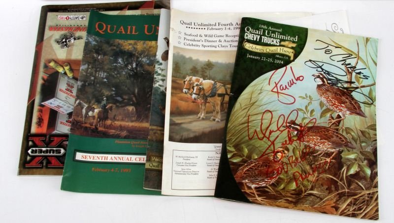 CELEBRITY QUAIL HUNT AUTOGRAPH COLLECTION - 5