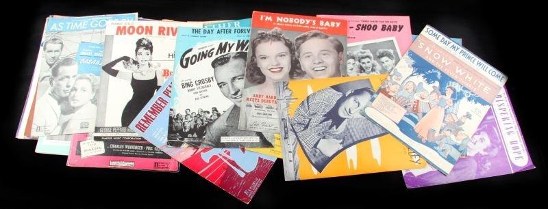 PIANO MUSIC VINTAGE LARGE LOT 1930 Ð 1950 SHOW POP