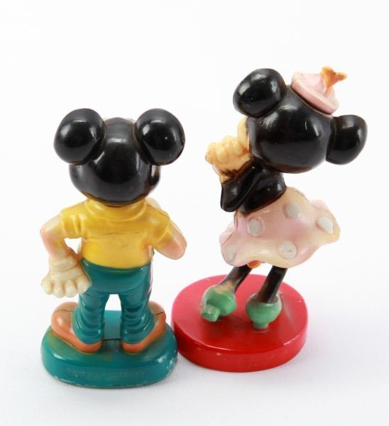 VINTAGE CELLULOID MICKEY AND MINNIE MOUSE FIGURINE - 2