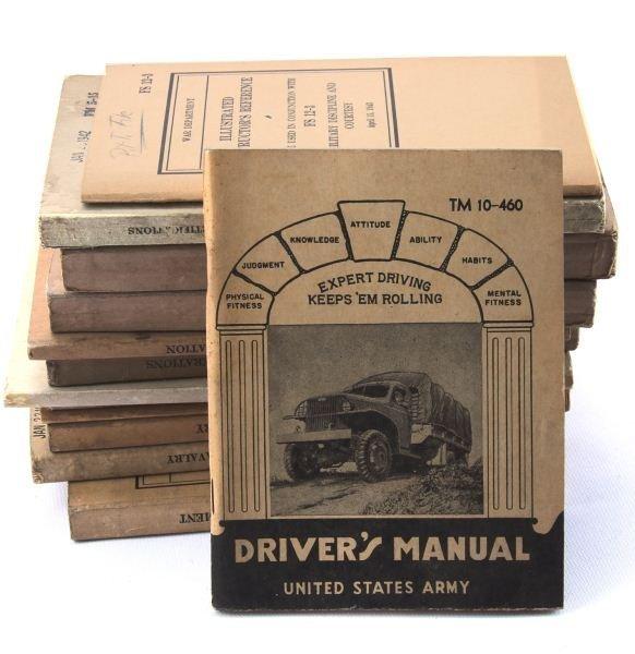 THIRTEEN WWII MISCELLANEOUS WAR DEPARTMENT MANUALS