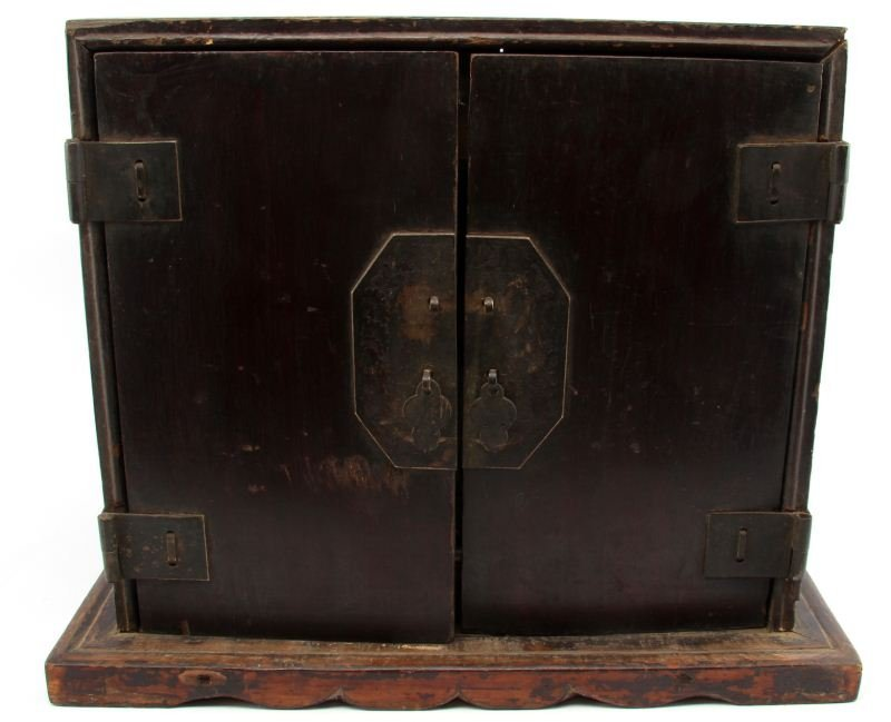 ANTIQUE CHINESE WOODEN SCHOLAR'S BOX