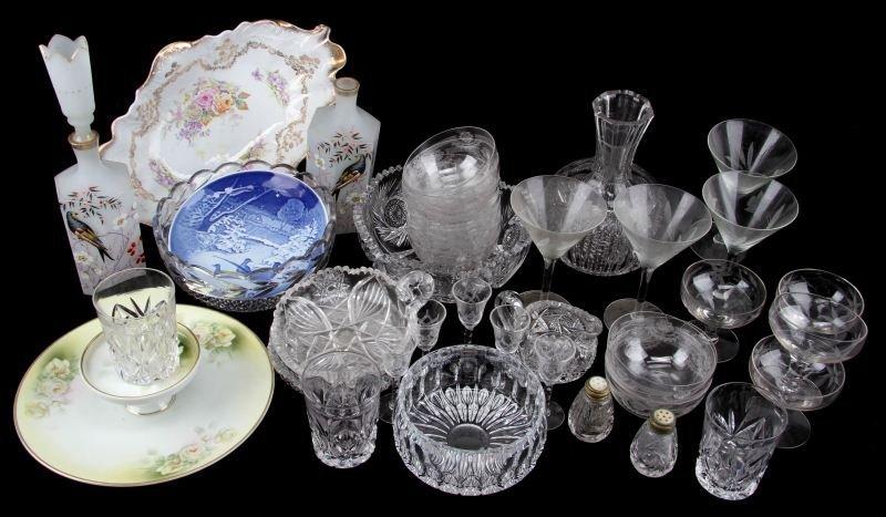 COLLECTION GLASSWARE WITH AMERICAN BRILLIANT