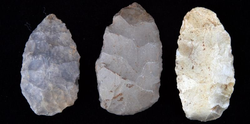 3 PALEO UNIFACE BLADES MCCRACKEN COUNTY KY.