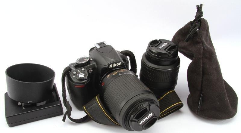NIKON D3100 DIGITAL SLR CAMERA 14.2MP & TWO LENSES