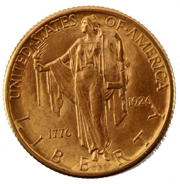 GOLD 1926 SESQUICENTENNIAL COMMEMORATIVE $2.50