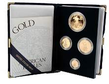 1997 GOLD AMERICAN EAGLE 4 COIN PROOF SET