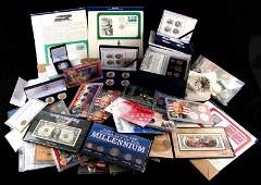 US HISTORICAL COIN  STAMP COLLECTION HUGE LOT