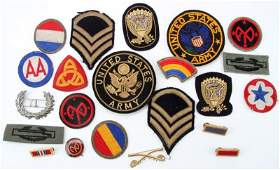 LOT OF VARIOUS US ARMY PATCHES WWII TO RECENT