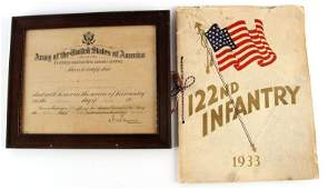 WWI DEATH NOTICE  1933 122ND INFANTRY YEARBOOK
