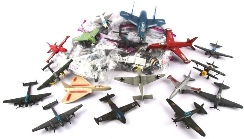 COLLECTION OF 44 PLAYART VINTAGE AIRCRAFT TOY LOT