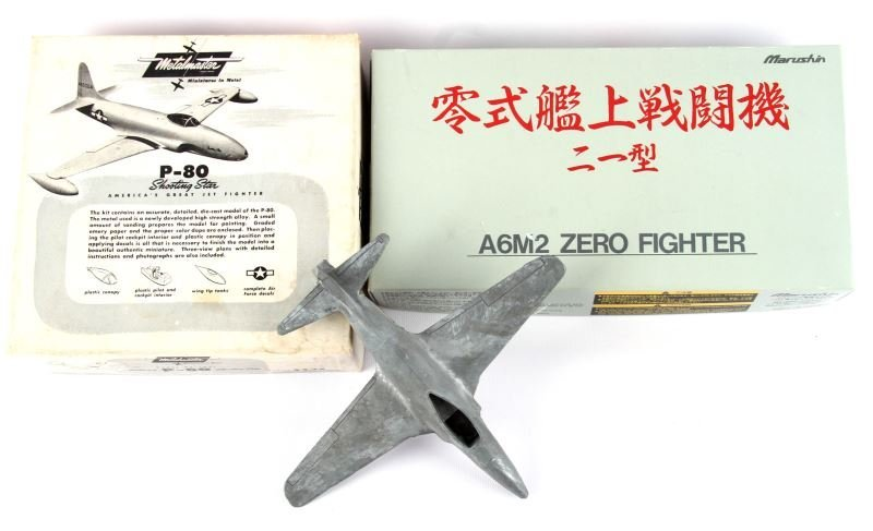 MARUSHIN ZERO A6M2 & P80 METALMASTER PLANE MODEL