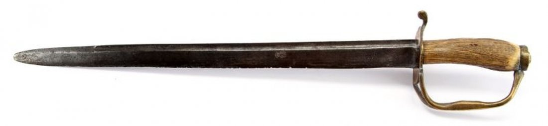 EARLY AMERICAN COLONIAL SHORT SWORD HANGER - 3