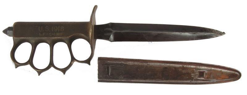 WWI 1918 PATTERN KNUCKLE DUSTER FIGHTING KNIFE