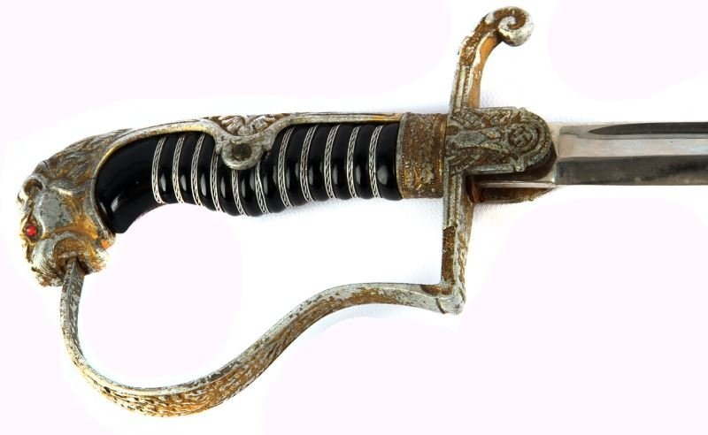 WWII GERMAN LIONS HEAD SWORD E F HORSTER - 2